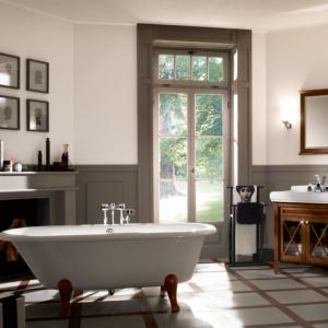 gemütliches Badezimmer mit rustikaler Note